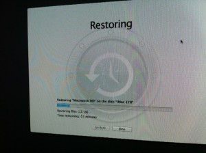 Restore 10.9 OS X